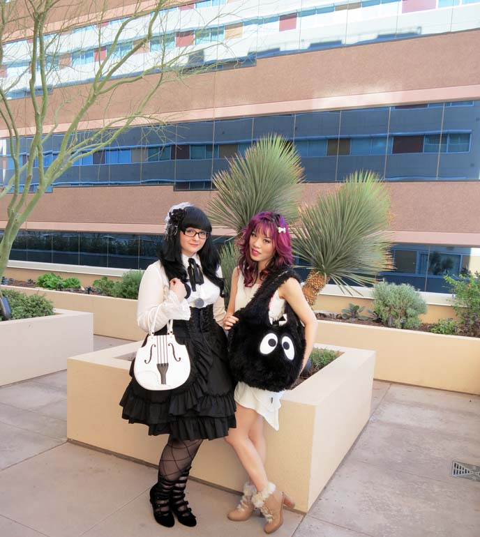 lolita outfit, cute japanese purse, gothic lolita girl, black white lolita dress