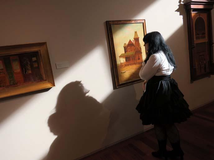 phoenix art museum, Philip C. Curtis paintings, surrealist painter, phoenix arizona artist