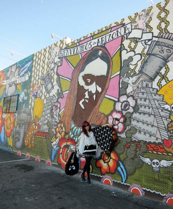 gennaro Garcia, calle 16, Bienvenidos A Arizona, dose Phoenix mural, Arizona art, young artists hispanic, southwest murals