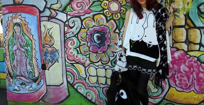 day of the dead mural, Arizona Latino Arts & Cultural Center, Phoenix murals,  arizona best restaurants, miffy scarf, scallop shorts