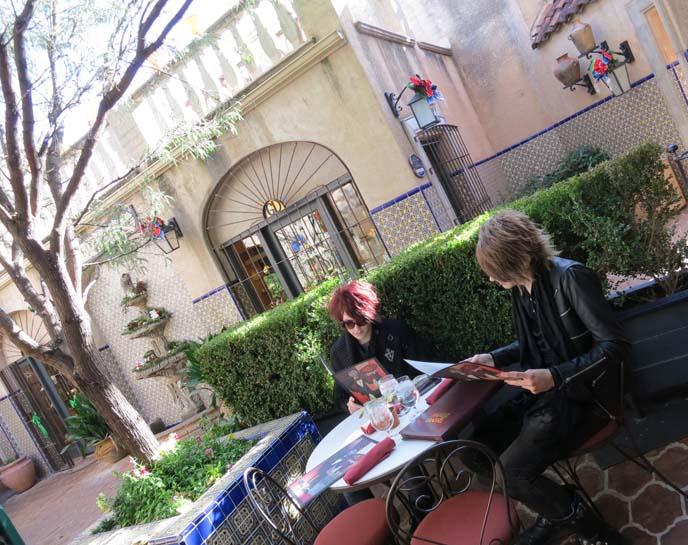 Rene at Tlaquepaque, Sedona AZ, rene's french restaurant, best Sedona restaurant, Arizona, cacti, arizona landscape
