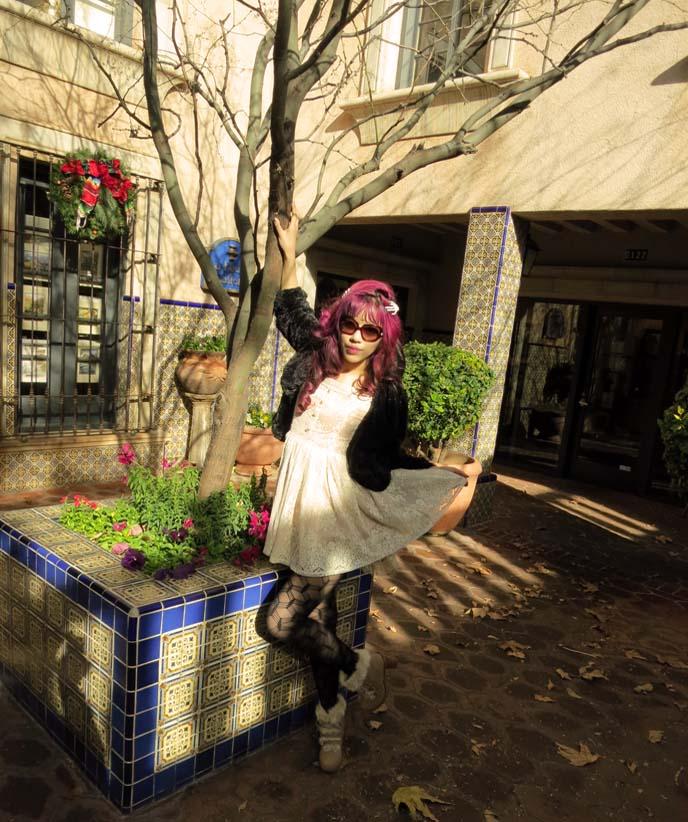 Sedona az, Liz Lisa dress & boots. liz lisa clothing, white lace dress