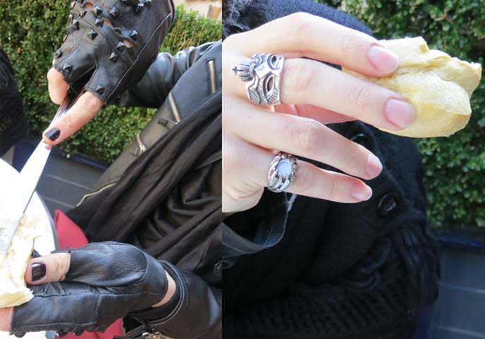 leather gloves, silver rings, jrock jewerly, japanese mens fashion, visual kei accessories