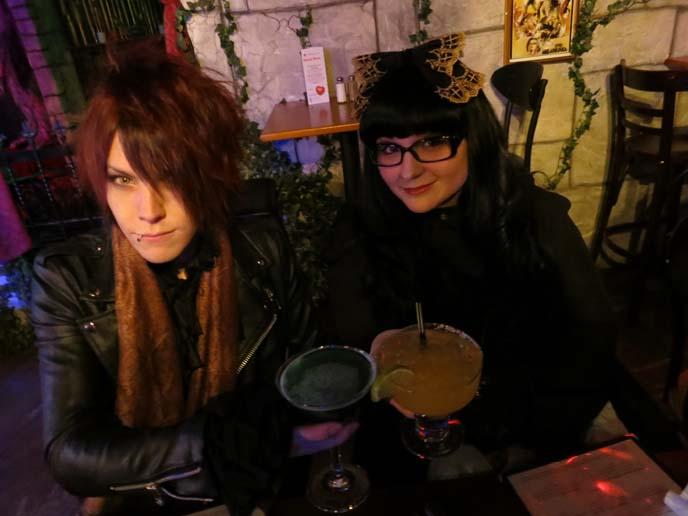 blue cocktail, monster drinks, goth cocktails