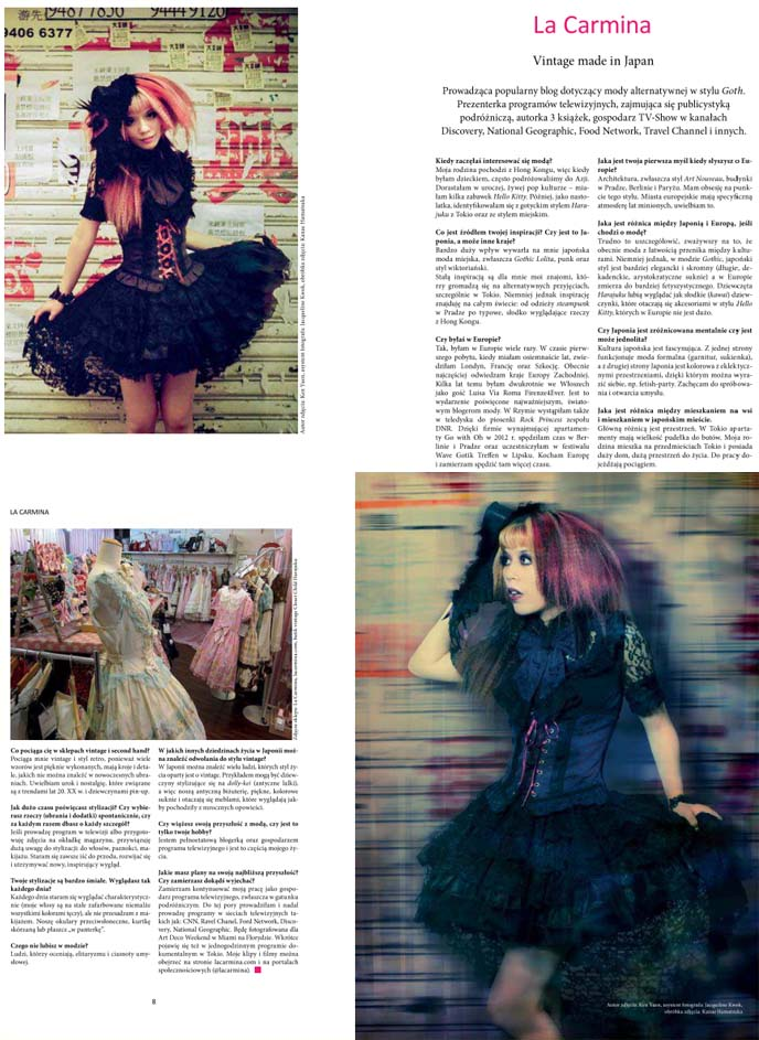 FUKSJA magazine poland, vintage stores in japan, tokyo secondhand shopping, polish fashion magazine