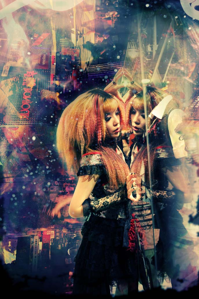 china goth, japanese lolitas, lolita modeling, lolita models, gothic lolita dress, photo manipulations