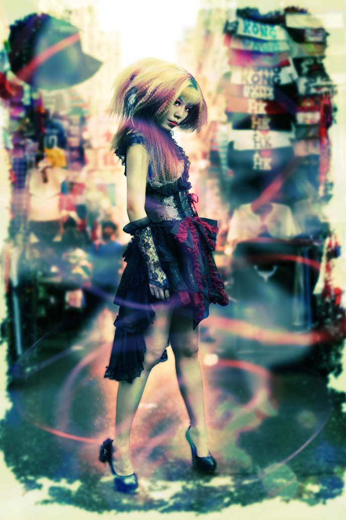 japanese goth girl, japan goth, women street mongkok, asia street style, hong kong shopping, lolita modeling, lolita models, gothic lolita dress