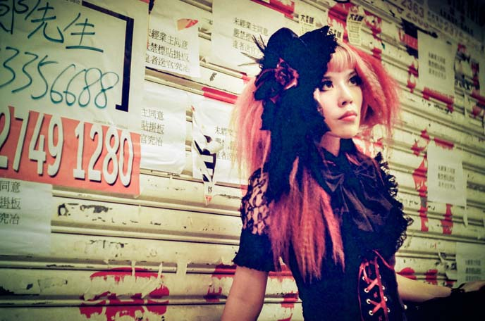 goth model, china gothic, goth punk fashion hong kong, SPIDER gothic lolita, egl dresses