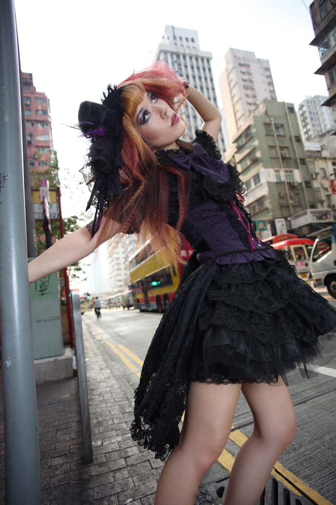 Hong Kong Street Style Fashion Photography Gothic Beauty