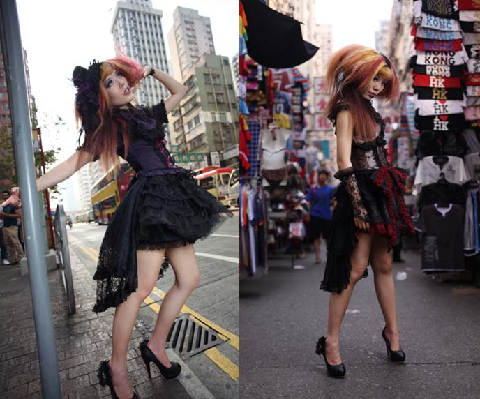 gothic asia street style, goth jewelry, japanese lolitas