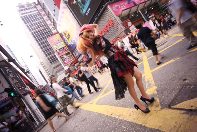 gothic lolita girl, female goth model, gothic modeling, alternative model, spider mongkok, GOTHIC LOLITA brands hong kong,