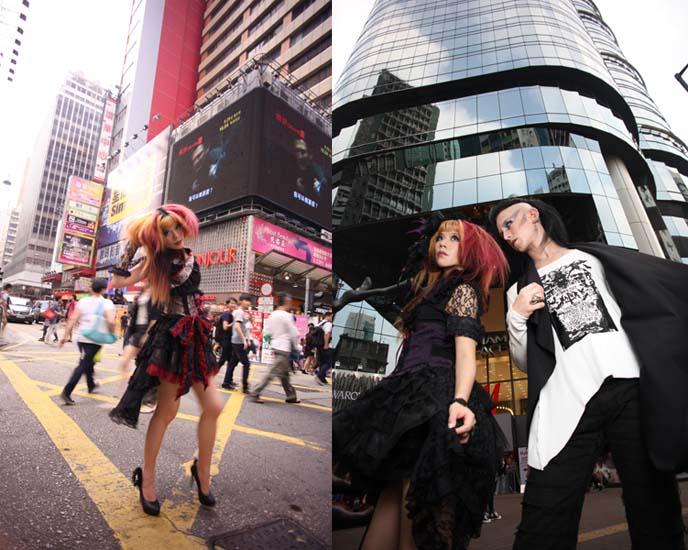 hong kong models, gothic lolita dress