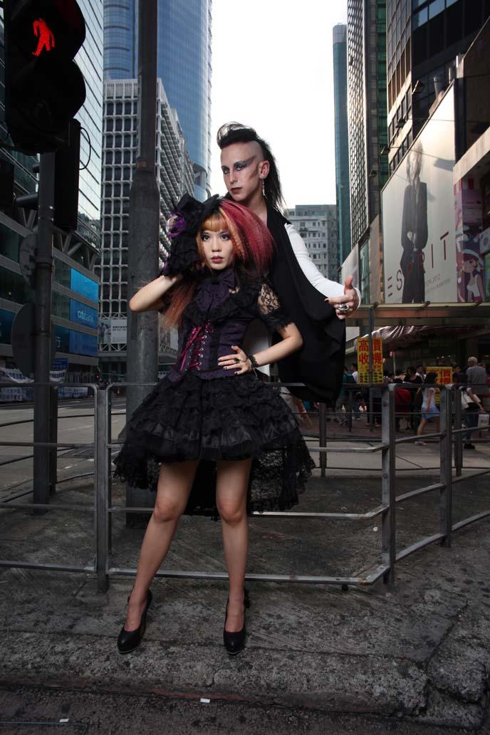 hong kong fashion magazine, visual kei hair, china gothic, goth punk fashion hong kong,