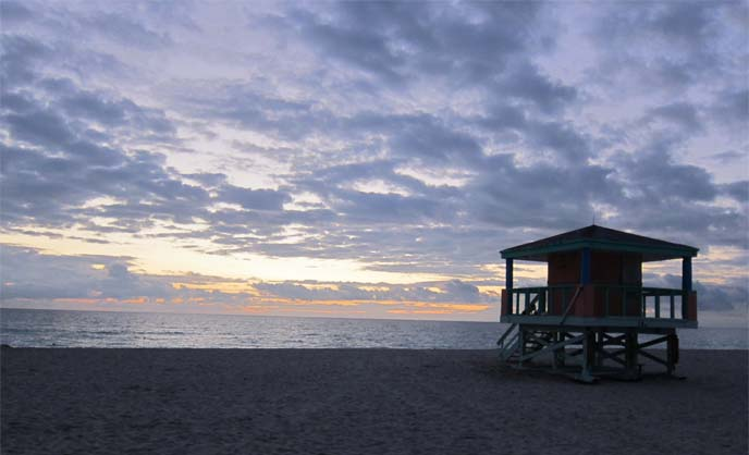 south beach sunrise, miami ocean, florida beach, miami beaches, sky, scenery miami sand