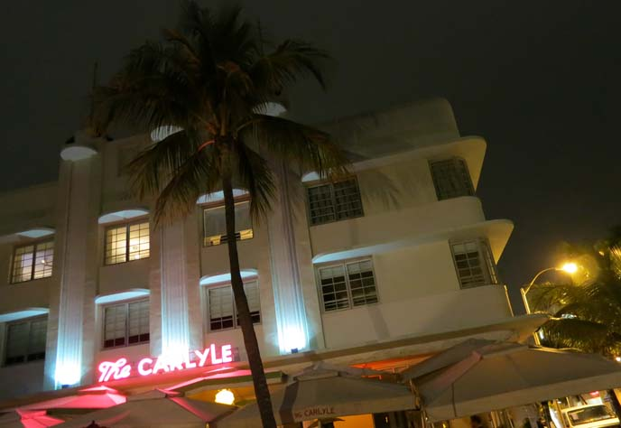 carlyle hotel, the birdcage hotel, miami birdcage hotel, art deco hotel, miami deco hotels, beachfront hotel miami, top usa boutique hotels, art deco historic district, ocean drive night