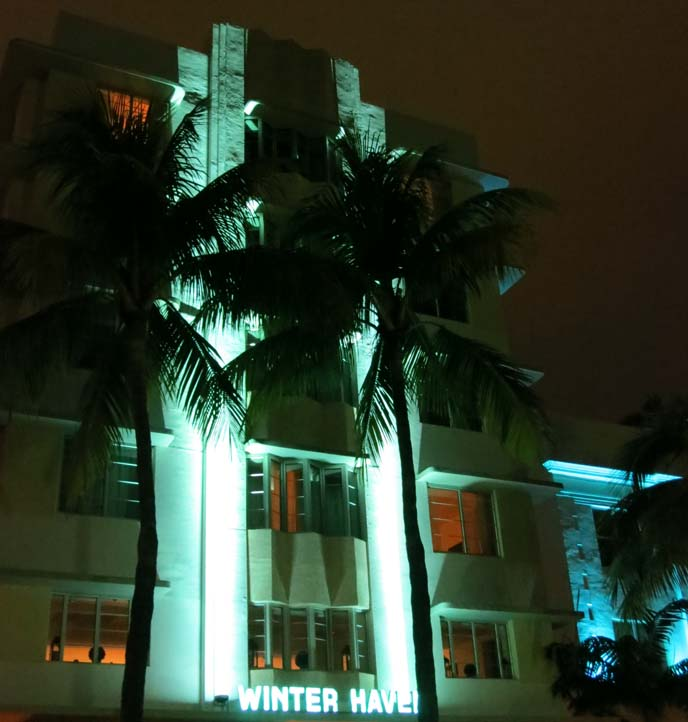 art deco hotel, winter haven, miami architecture, south beach nightlife, design