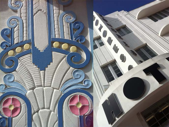congress hotel, pastel art deco, art deco architecture, art deco patterns, colors, art deco weekend, ocean drive hotels