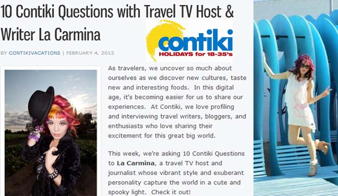contiki, contiki blog, young travel blogger, young travelers, travel tv host, contiki vlog, contiki vlogger, travel videos, female tv host, travel tv hosting, tv presenter, contiki travel bloggers, la carmina interview, travel interview, top travel blogs, travel blogger