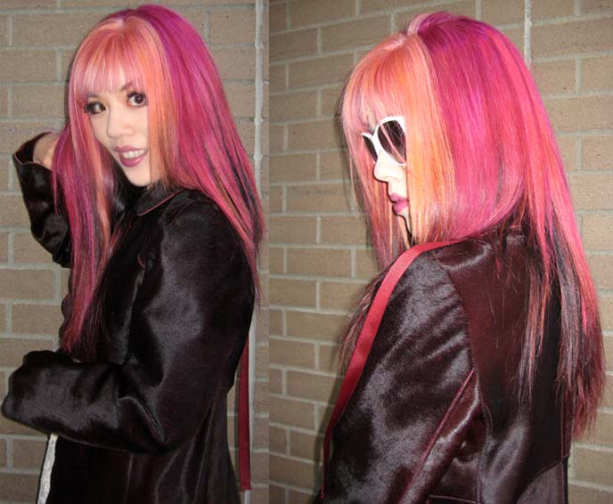 long pink hair, goth hairstyles, japanese hair color, harajuku hair, joico hair dye