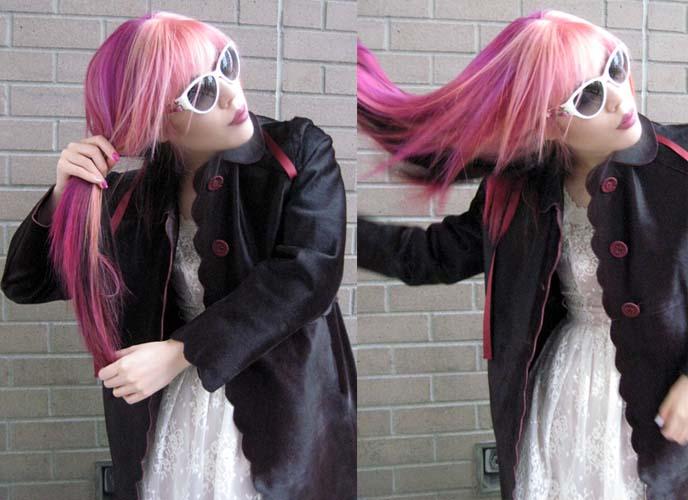 harajuku hairstyle, japanese goth hair, pastel goth style