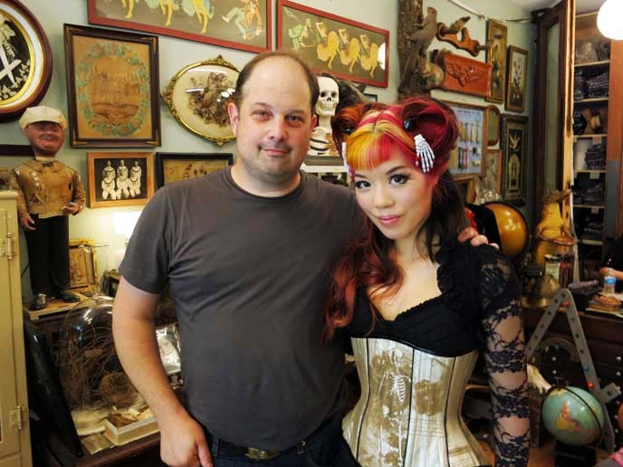 wilde hunt corsets, goth girl hair, gothic makeup, goth tv host, Mike Zohn, Evan Michelson