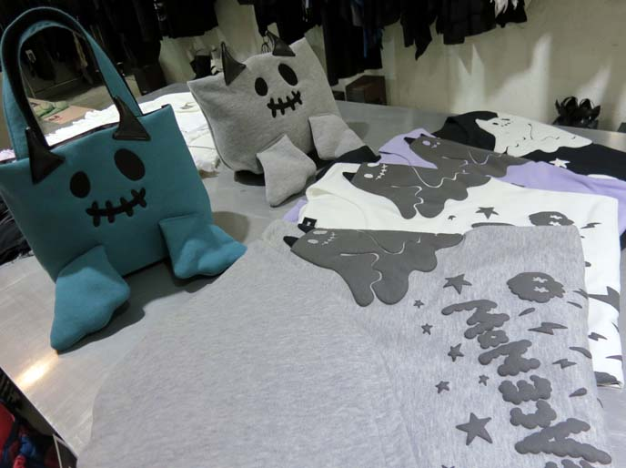pastel goth clothes, ghost bag, black peace now tshirts