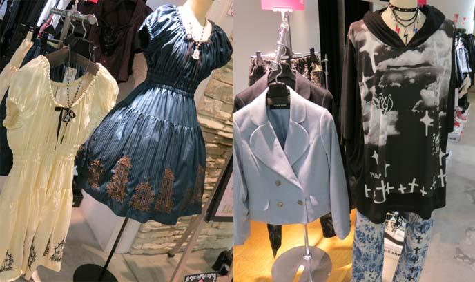 nu goth clothes, new goth clothing, pastel goths, moi meme moitie dress print