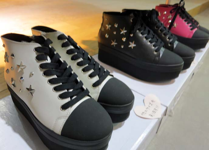 studded shoes, creeper shoes, star stud sneakers, peace now boots