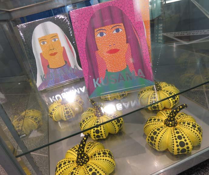 yayoi kusama, self portrait, kusama pumpkins, mori museum exhibit