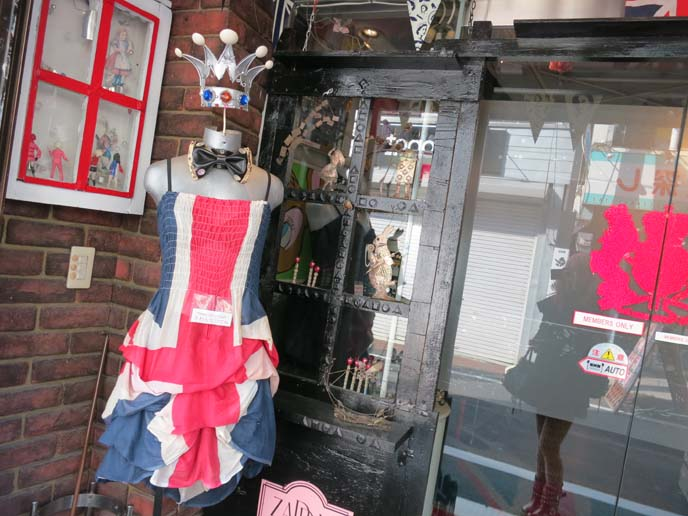 uk flag dress, union jacket dress, vintage store tokyo