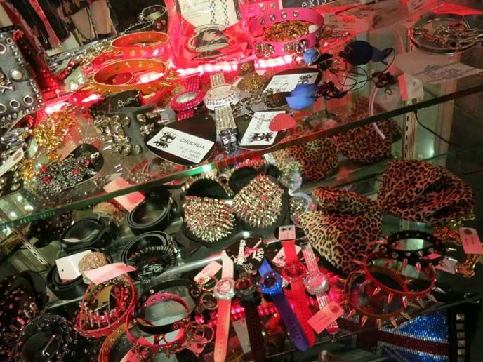 studded slippers, punk rock accessories, collars