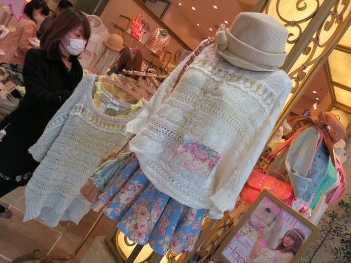 japanese girl in face mask, spring fashion tokyo