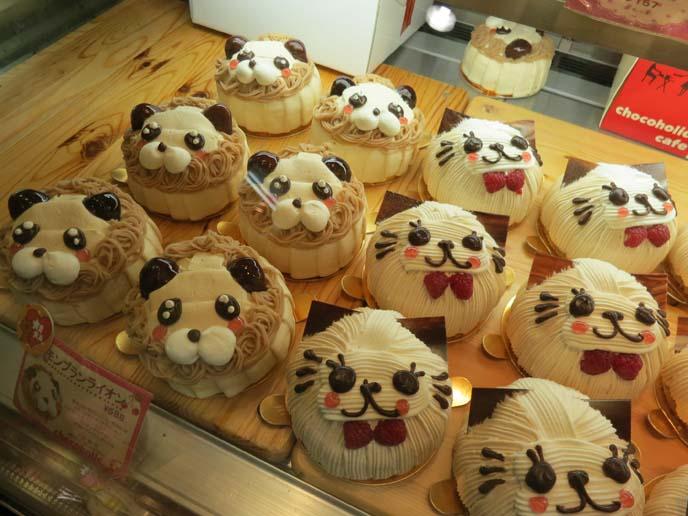 cat face cakes, cutest cake ever, kawaii japanese cakes