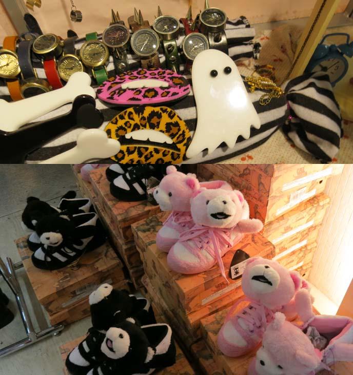 ghost hair clip, spooky accessories, bear sneakers
