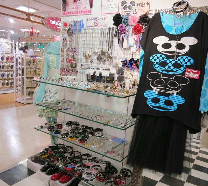 lolita accessories, mickey mouse top