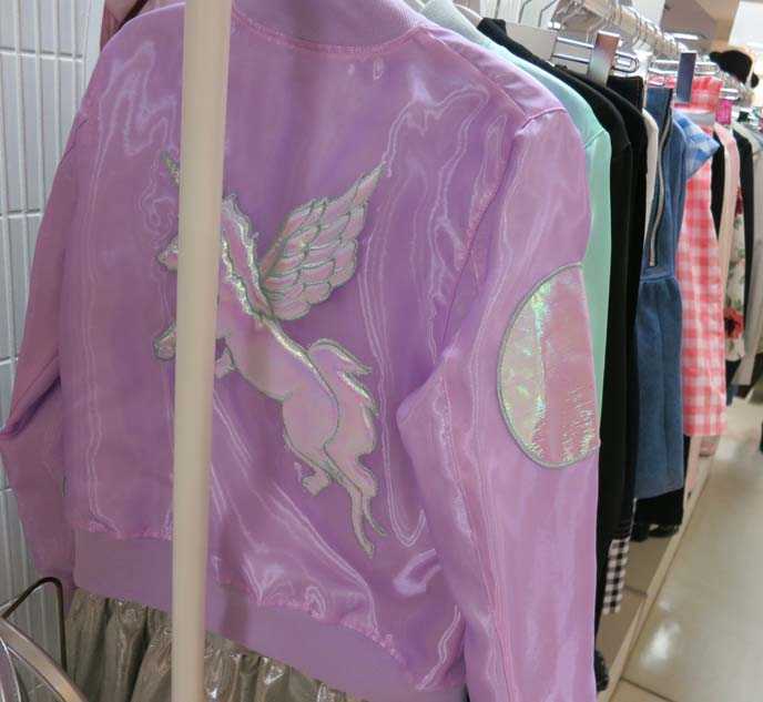 unicorn jacket, pastel coats, pastel goth jackets