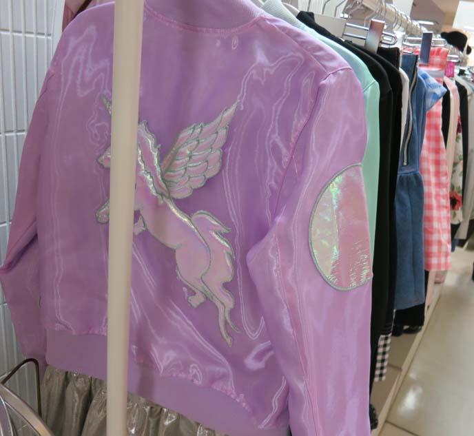 unicorn jacket, pastel coats, pastel goth jackets