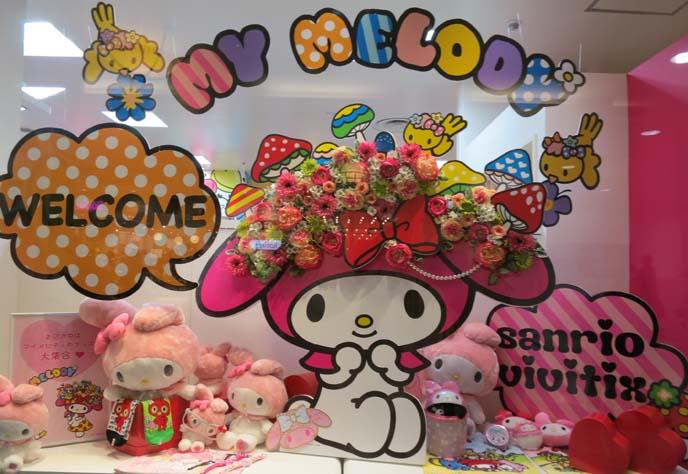 my melody shop, sanrio store japan