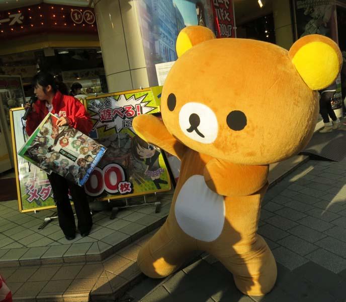 dancing bear, rilakkuma costume, cute cosplay