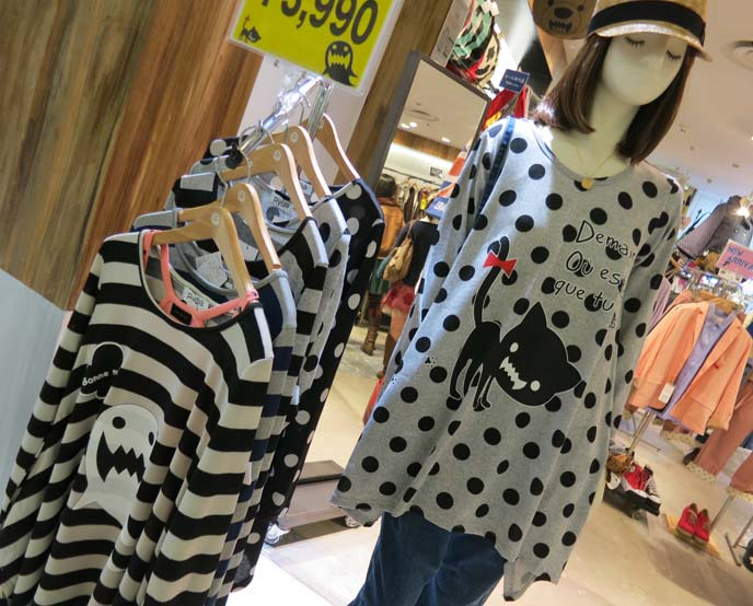 cute japanese clothing, cat shirt, ghost sweater