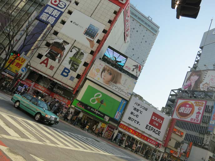 Shibuya crossing, shibuya pedestrian crossing, famous street