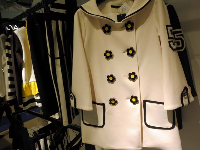 mod jacket, 1960s coat, flower buttons jacket
