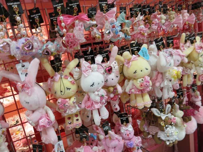 kawaii bunny charms, cell phone accessories shibuya