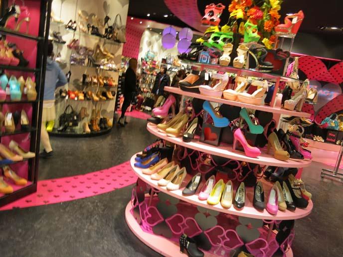neon high heels, tokyo trendy heels, cool shoes