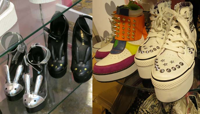 bunny shoes, bunny high heels, spiked sneakers