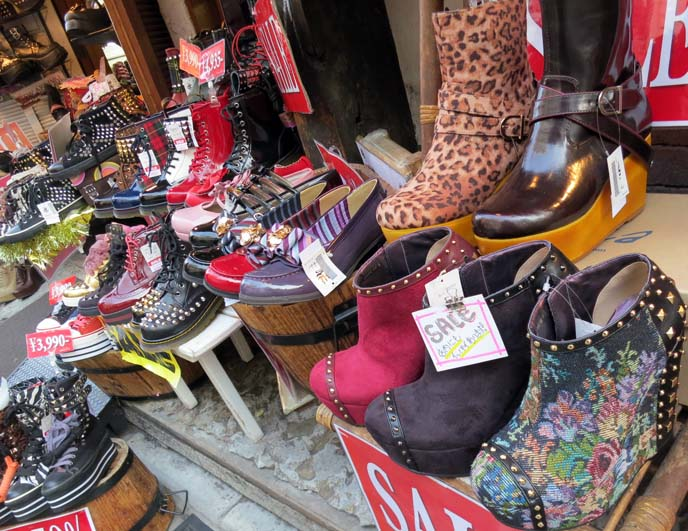 jeffrey campbell boots, studded goth shoes, harajuku boots