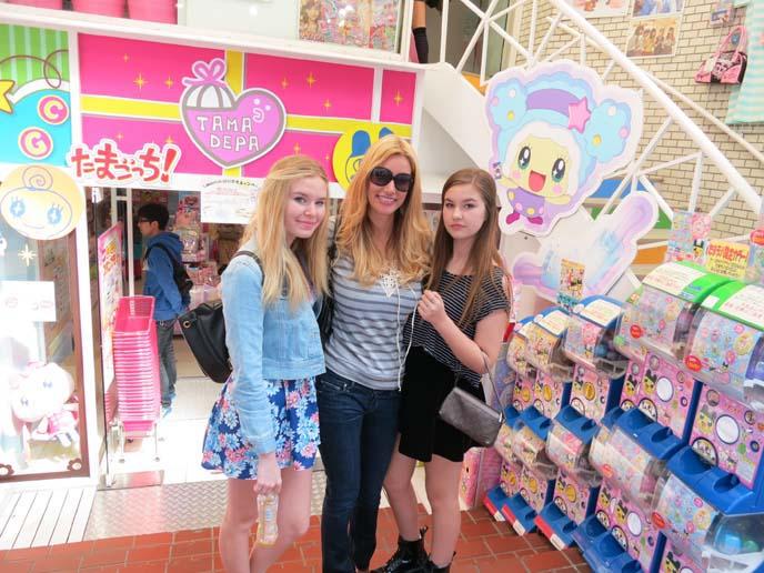 tama depa, harajuku candy shop, gachipon machines
