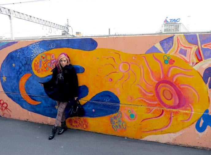 nakano wall art, japan street paintings