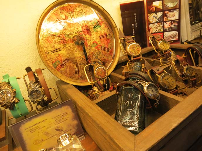 victorian watches, steampunk watches, world clock