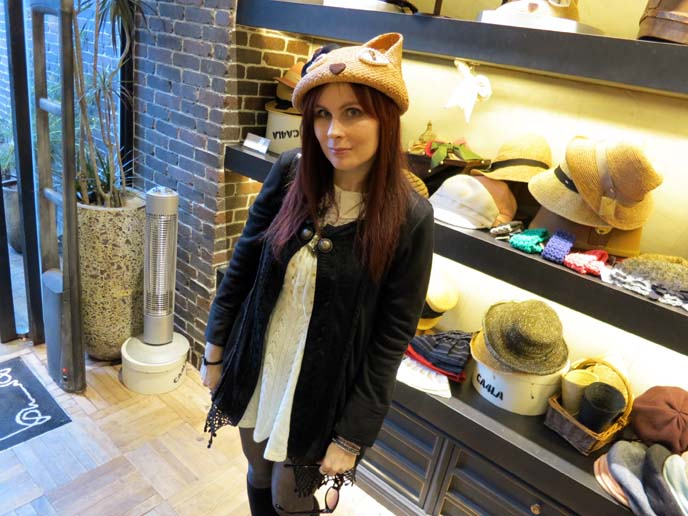 cat ears hat, cat-eared bowler hats